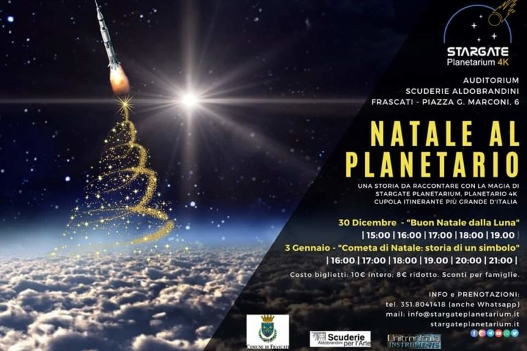 30 Dicembre 2019 – Natale al Planetario – Scuderie Aldobrandini – Frascati