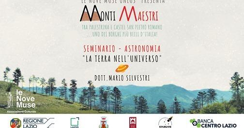 """02 Novembre 2020 – #MONTIMAESTRI – 1° Webinar """"La Terra nell'Universo"""""""