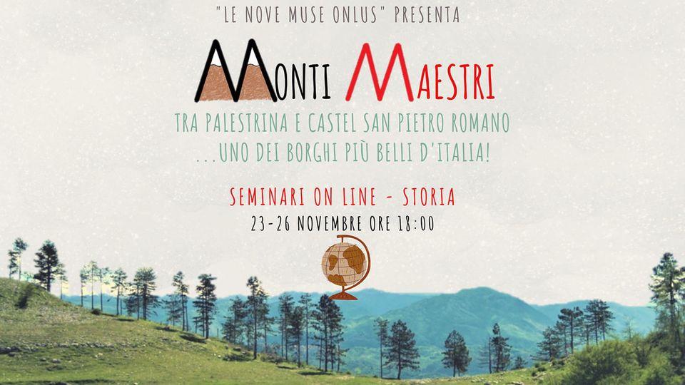 """23 Novembre 2020 #MONTIMAESTRI – Webinar """"Il Medioevo nei feudi prenestini dei Colonna"""""""