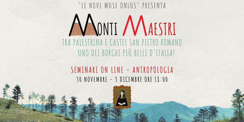 """03 Dicembre 2020 – #MONTIMAESTRI """"Tra santa Rosalia e san Rocco, storia di culti e devozioni"""""""